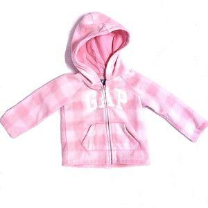 Gap baby girl's 18-24 months pink plaid jacket